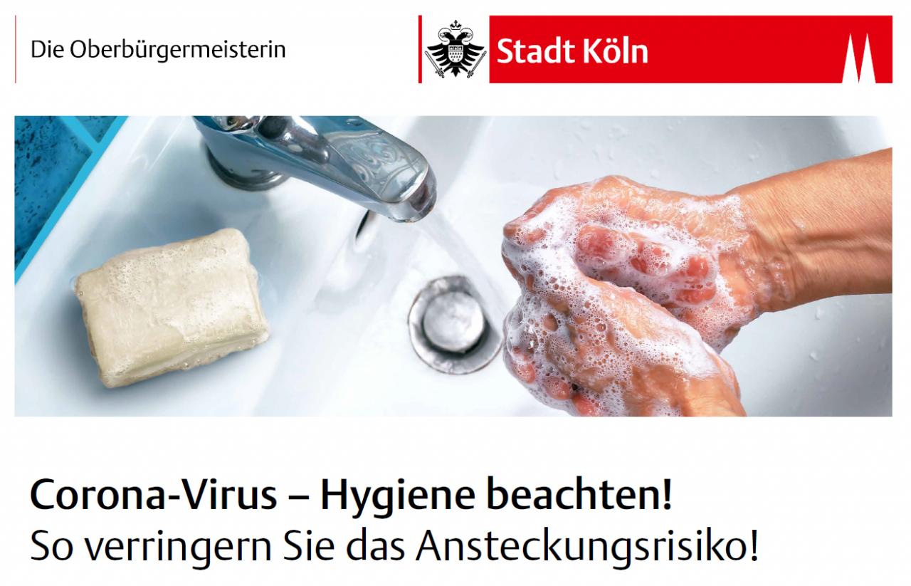 Corona-Virus – Hygiene beachten! So verringern Sie das Ansteckungsrisiko!